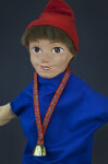 Switzerland Hand Puppet of Boy with Bell Around Neck (Close Up)