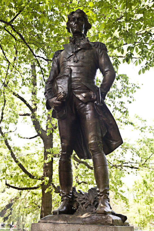 Tadeusz Kościuszko Bronze at the Boston Public Garden