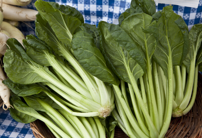Tatsoi At Farmers' Market