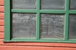 Teal Window Frame