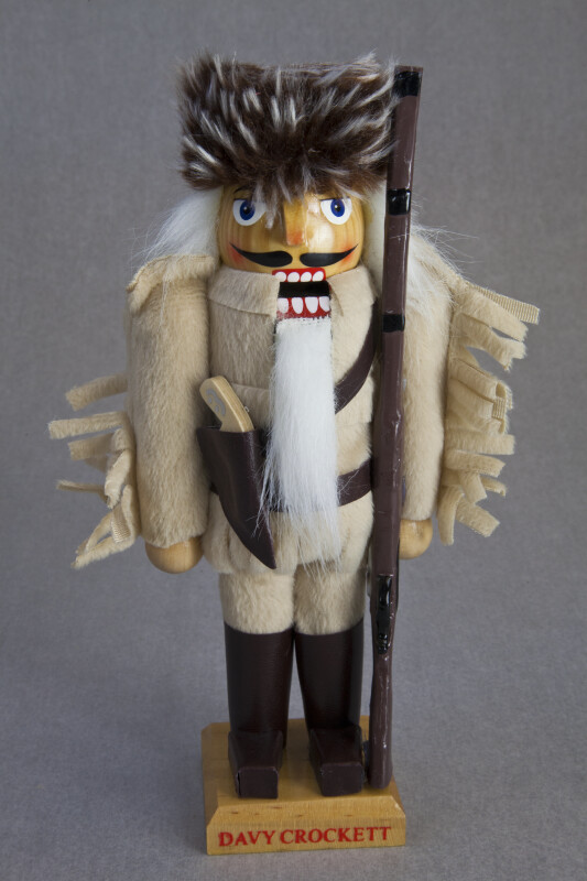 Tennessee Davy Crockett Doll Made from a Wooden Nut Cracker (Full View)