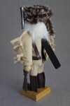 Tennessee Davy Crockett Nut Cracker Wearing Coonskin Hat with Raccoon Tail (Back View)