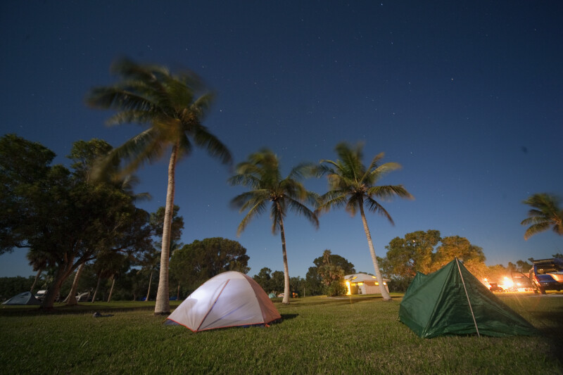 Tents and the Night Sky