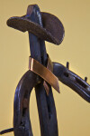 Texas Horseshoe Cowboy from Roy Earl's Metal Art Shop in the Historic Fort Worth Stockyards (Close Up)