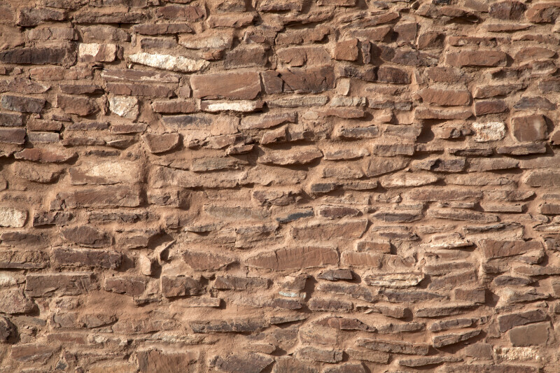 Texture of The Sandstone Bricks at The Quarai Ruins