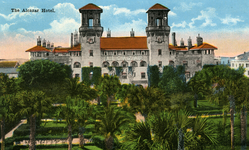 The Alcazar Hotel (across the park)