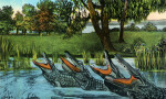 "The Alligator Quartet Singing ""Way Down Upon the Suwannee River"""