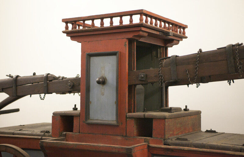 The Attachment of the Old Fire Pumper's Handles to the Pumping Mechanism