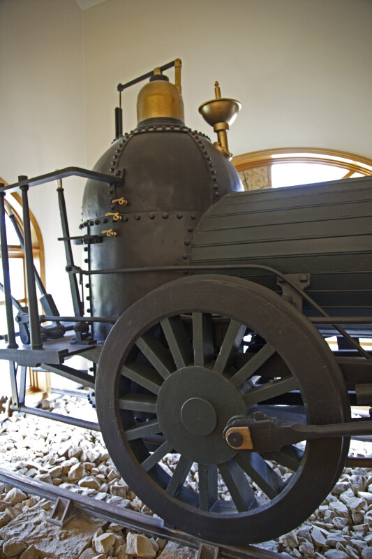 The Back Half of a Steam-Powered Locomotive Engine