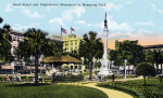 The Band Stand and Confederate Monument in Hemming Park