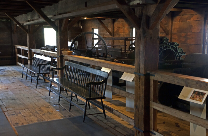 The Benches by the Wool Carding Machines