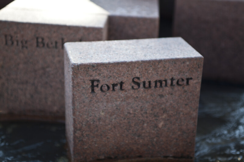 The Block Representing the Battle of Fort Sumter