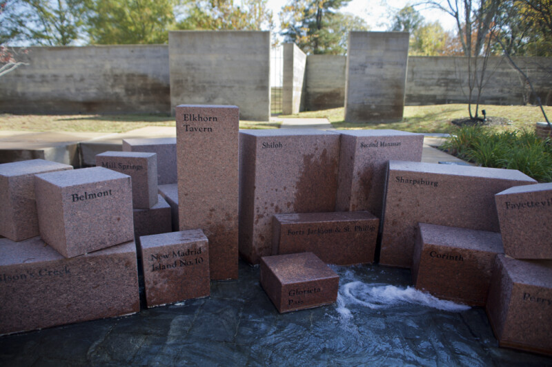 The Blocks Representing the Battles of Belmont, Mill Springs, and New Madrid Island Number 10