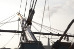 The Bowsprit and Spritsail Yard of the USS Constitution