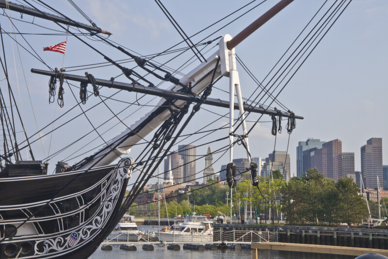 The Bowsprit of the USS Constitution