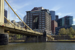 The Byham Theater and the Roberto Clemente Bridge