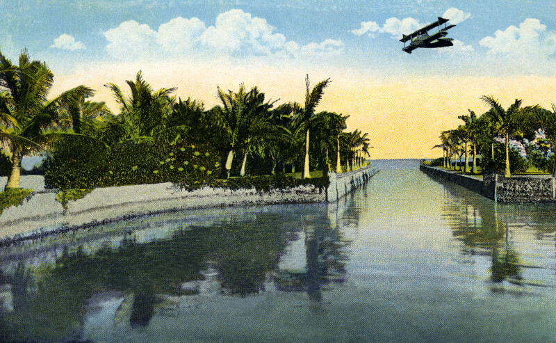 The Canal at Curtis James Estate in Cocoanut Grove, Florida