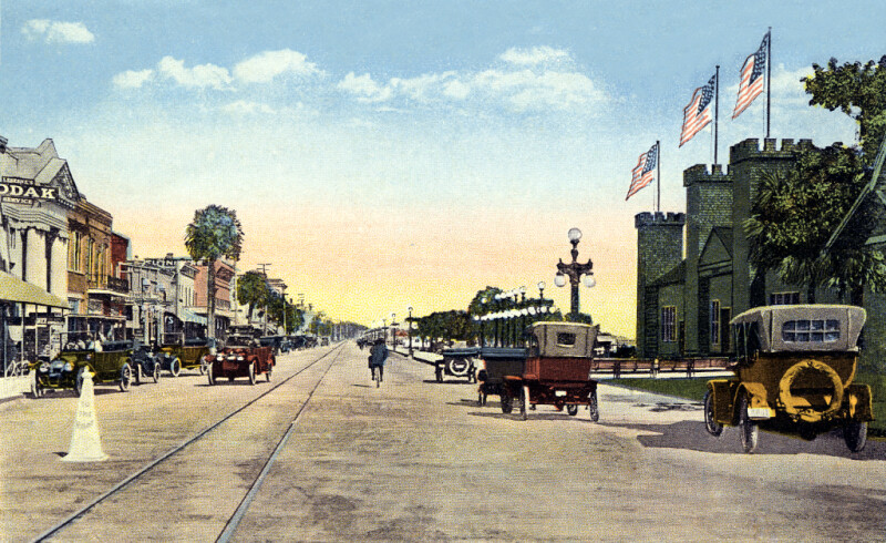 The Casino Burgoyne and the Business Section on Beach Street