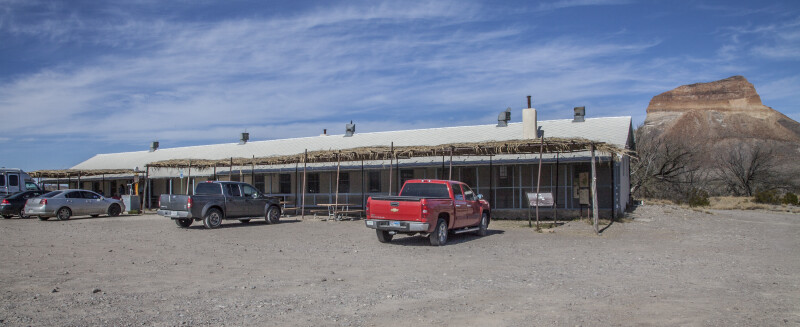 The Castolon Store with Vehicular Visitors