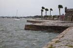 The Choppy Waters of Matanzas Bay along the Seawall of Castillo de San Marcos