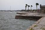 The Choppy Waters of Matanzas Bay along the Seawall of Castillo de San Marcos