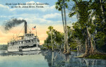 """The """"City of Jacksonville,"""" Steaming Down the St. Johns River"""