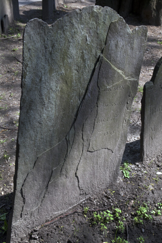 The Cleavage-Planes of a Slate Headstone