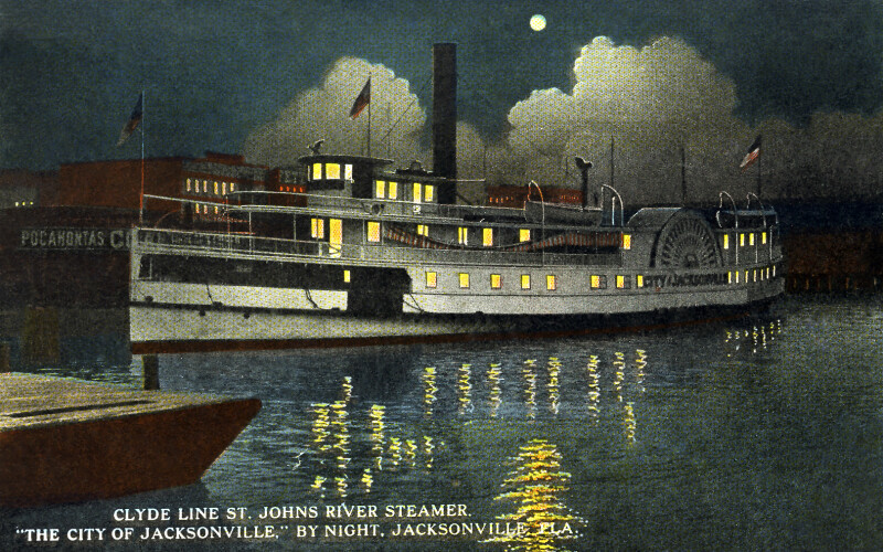"The Clyde Line's ""City of Jacksonville,"" by Night"