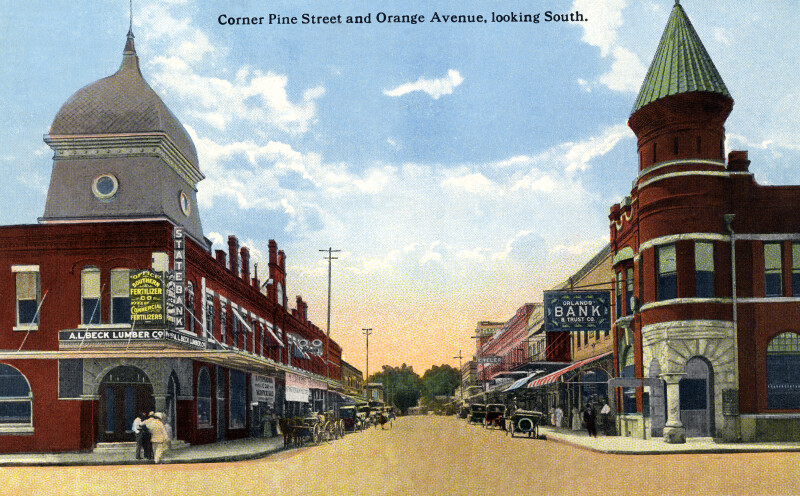 The Corner of Pine Street and Orange Avenue, Looking South
