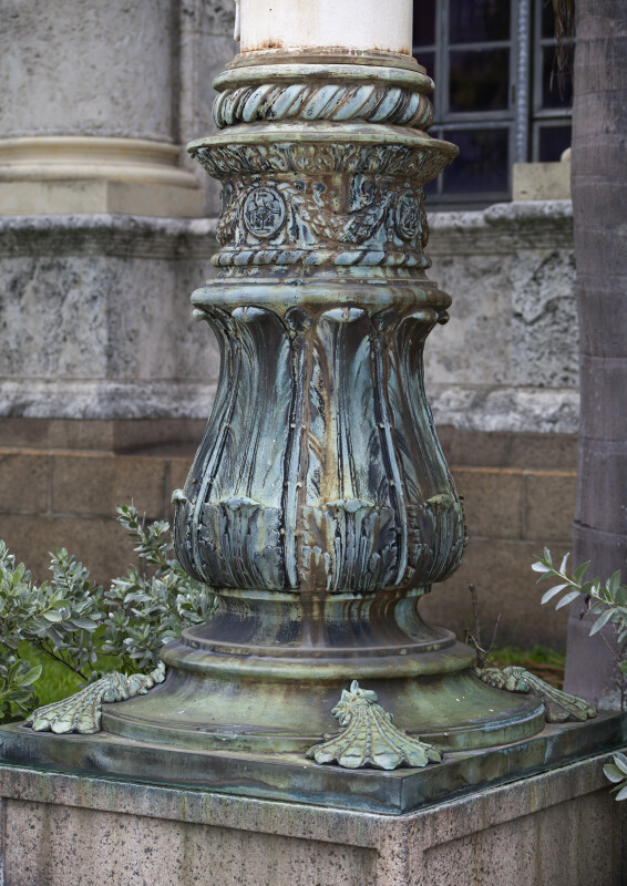 The Decorative Metal Base of a Column