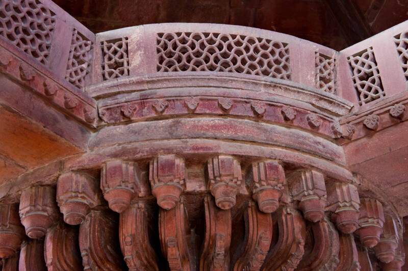 The Detailed Pillar of Diwan-i-khas