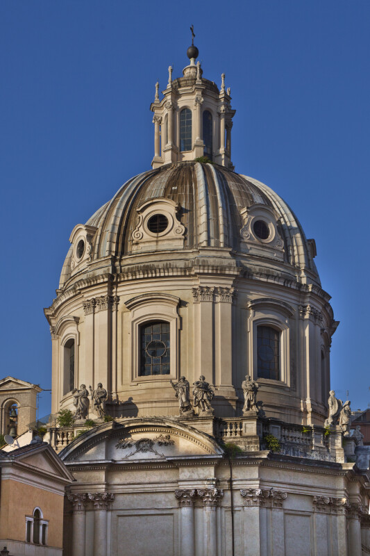 The Domed Cupola of the Church of the Most Holy Name of Mary at the Trajan Forum