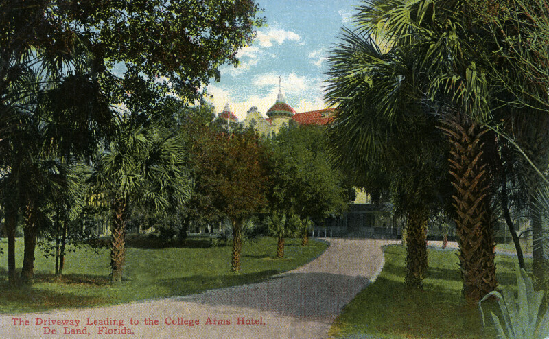 The Driveway Leading to the College Arms Hotel in DeLand, Florida