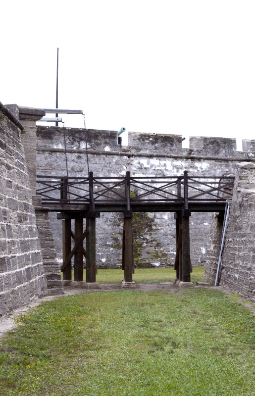 The Elevated Walkway between the Covered Way and the Ravelin, from the Moat