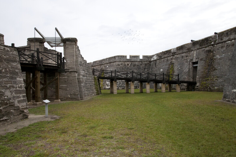 The Elevated Walkways Between the Covered Way, Ravelin, and Main Gate