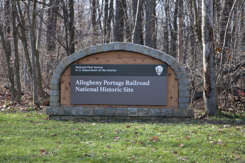 The Entrance Sign at the Allegheny Portage Railroad Historic Site