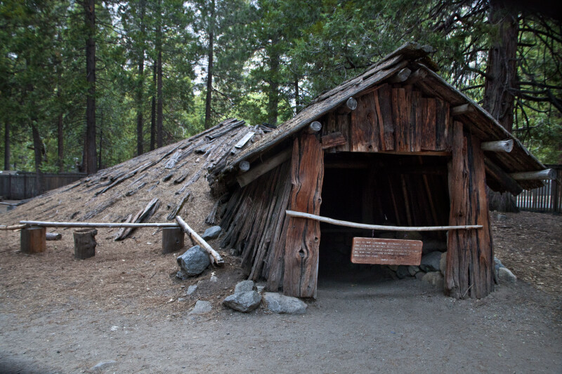 The Entrance to the Ceremonial Roundhouse at Ahwahnee Village