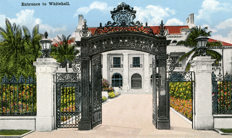 The Entrance to the Home of Henry M. Flagler