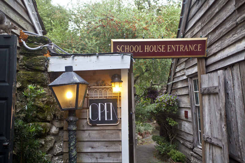 The Entrance to the Oldest Wooden Schoolhouse