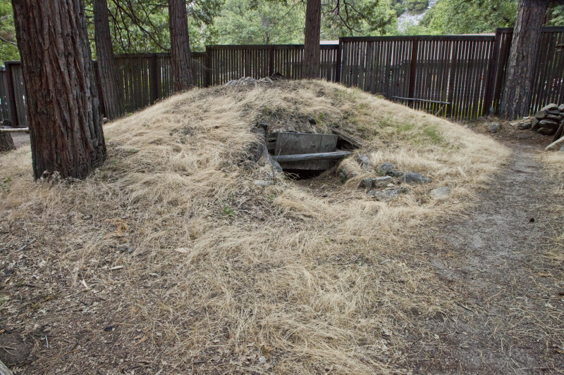 The Entrance to the Sweat Lodge at Ahwahnee Village