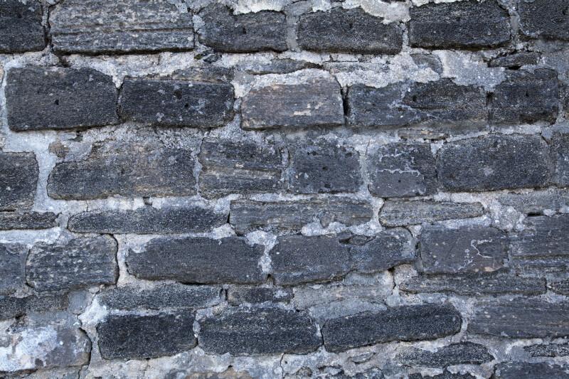 The Exterior Stone Wall at Fort Matanzas, Close-up