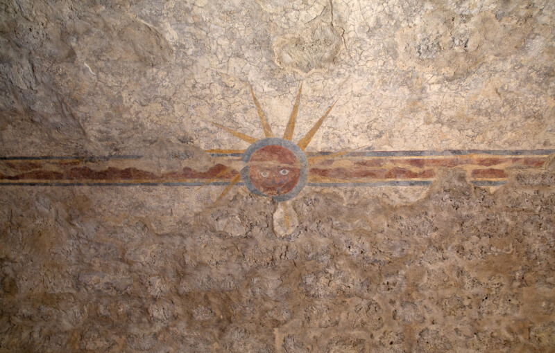 "The ""Eye of God"" Fresco at Mission Concepción"