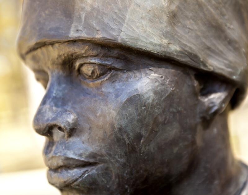 The Face of a Bronze Sculpture