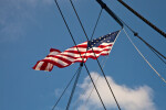 The Flag Flying over the USS Constitution