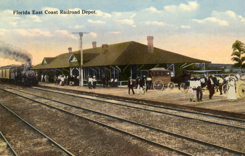 The Florida East Coast Railway Depot
