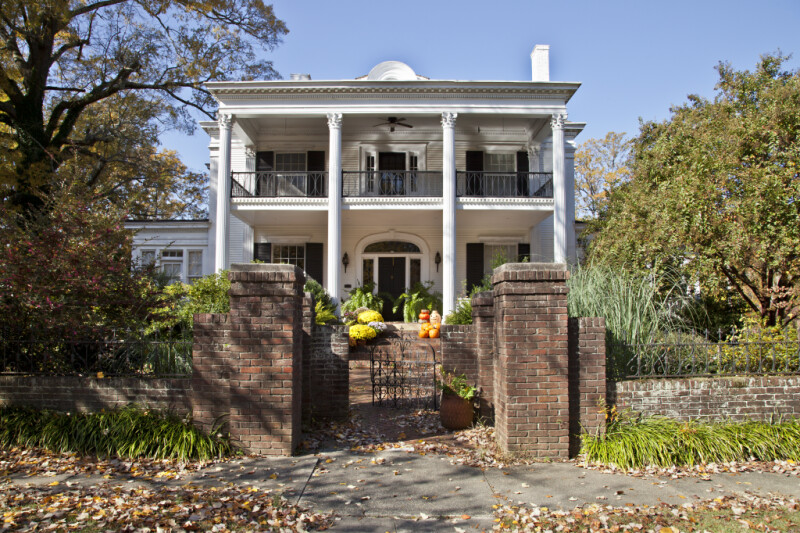 The Front Elevation of the Lamb-Garrett House