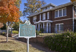 The Gish-Hill House and An Associated Historic Marker