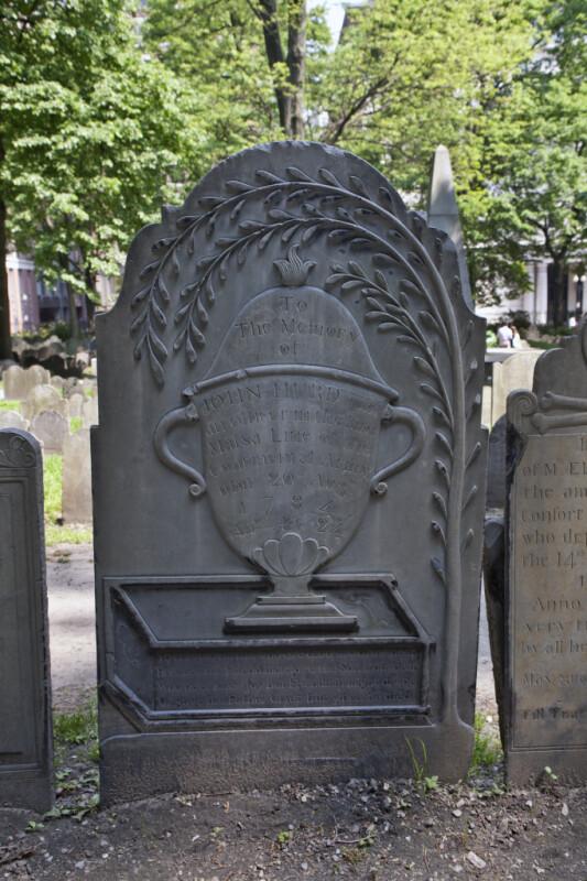 The Grave Marker of an Officer of the Massachusetts Line