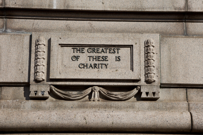 """The greatest of these is charity"""