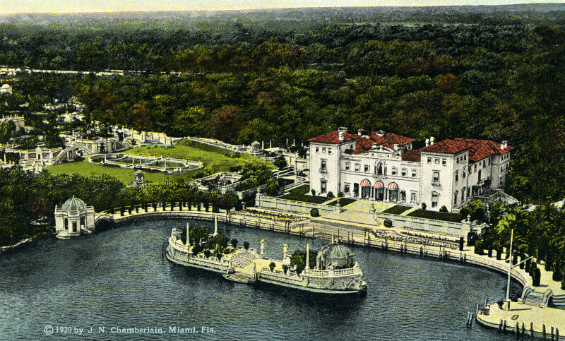 The Grounds of James Deering's Villa, from the Sky